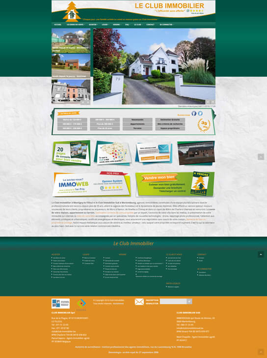 clubimmo site page 1